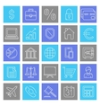 Business and Finance Icons vector image vector image
