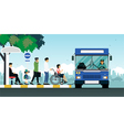 Disabled bus vector image