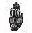 Vintage motivational grunge quote poster doodles vector image