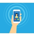 Incoming call on smartphone screen Flat vector image