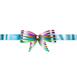 Beautiful striped shiny bow vector image