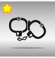 handcuffs black icon button logo symbol vector image