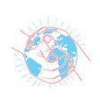 Icon protect the land vector image
