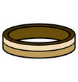isolated golden ring vector image