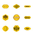 premium quality retro label icons set flat style vector image