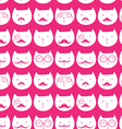seamless pattern with cute rabbits and cats vector image