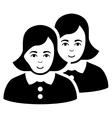 Women Flat Icon vector image