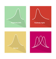 Positive and Negative Distribution Curve vector image