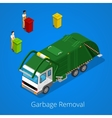 Garbage Removal with Isometric People and Truck vector image