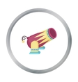 Circus cannon icon in cartoon style isolated on vector image