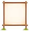 Wood sign white blank vector image