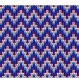 Color Knitted Wool Pattern Background vector image