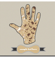 Floral composition on the handprint vector image vector image
