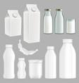 realistic creative milk packaging design vector image
