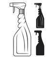 cleaning spray bottle vector image vector image