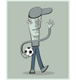 Soccer player waving vector image vector image