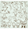 Hand drawn Christmas characters and elements vector image vector image