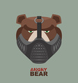 Angry bear in mask A ferocious wild animal vector image