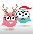Couple Chat Christmas vector image