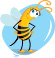 cute cartoon bee vector image