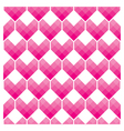 Heart Shapes Seamless Pattern Mosaic Style vector image