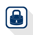 lock flat icon vector image