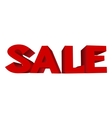 red text SALE vector image
