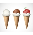 The ice cream vector image