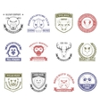 Wild Animal Stamps Set vector image