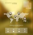 infographics blurred background scene vector image