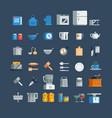 kitchen utensils icons set vector image