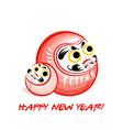 Daruma New Year card vector image vector image