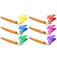 Different design of painters brush vector image vector image