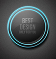 Glow round plate vector image