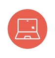 Laptop and cursor thin line icon vector image
