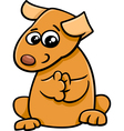 puppy animal character vector image vector image