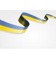 Ukrainian flag background vector image vector image