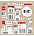 Barcode Packaging business Labels vector image