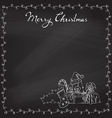 Christmas chalk background vector image