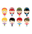 cute cartoon boys and girls together vector image