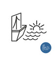 seaside view icon vector image