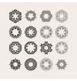 Set of ornate mandala borders and frames vector image