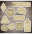 Slogans stickers food wine vector image