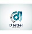 D letter concept logo template vector image