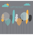 Card with balloons for a birthday vector image