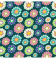 seamless color pattern with plenty of flowers vector image vector image