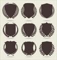 Shield and laurel wreath vector image vector image