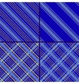 star oblique striped and cell blue patterns vector image vector image