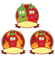 Cartoon hot chilli design vector