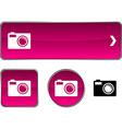 Photo button set vector image